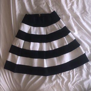 Never Worn - Black and White Pleaded Skirt